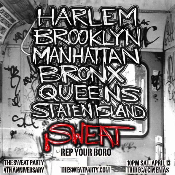 the sweat party rep your borough